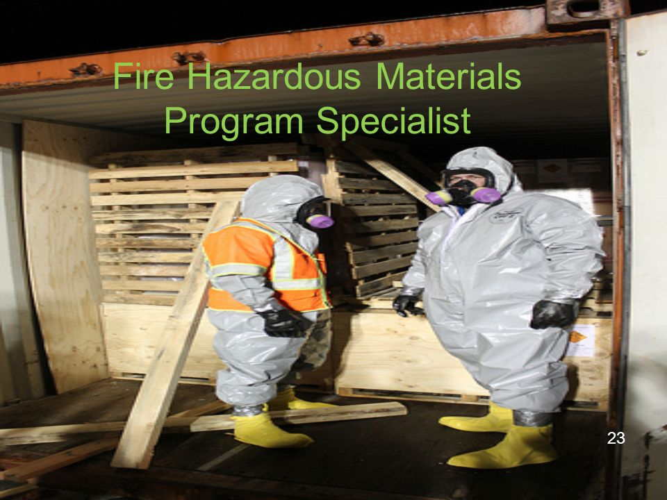Fire Hazardous Materials Program Specialist