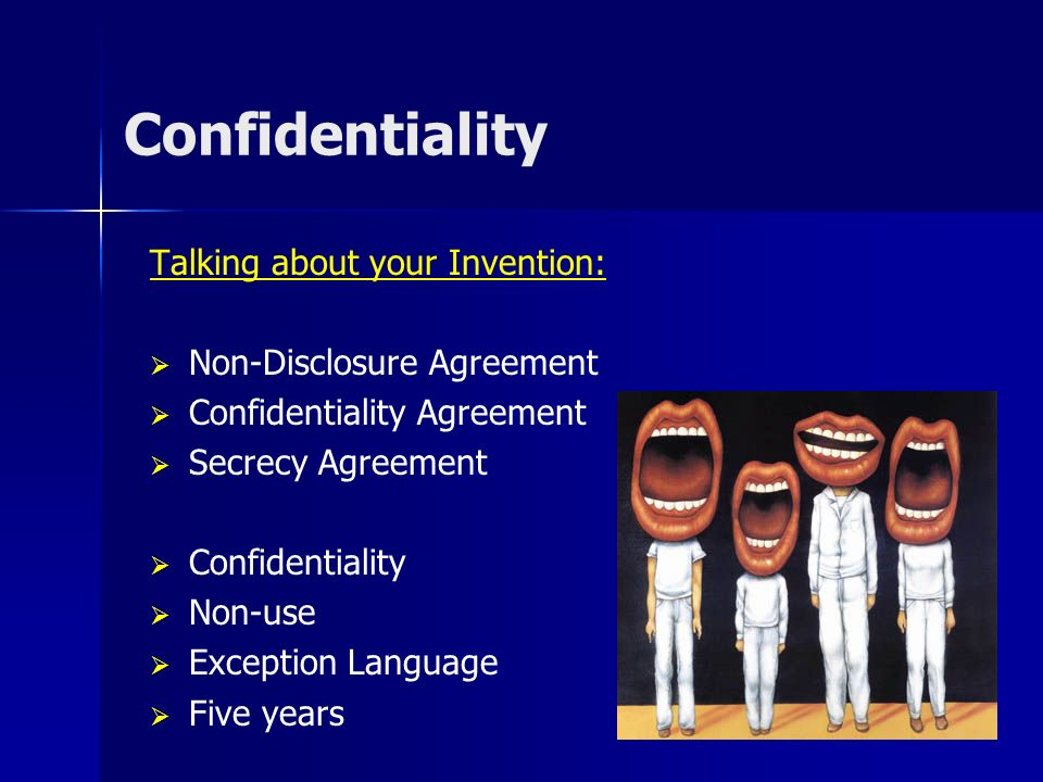Invention Confidentiality Agreement Image Collections Agreement