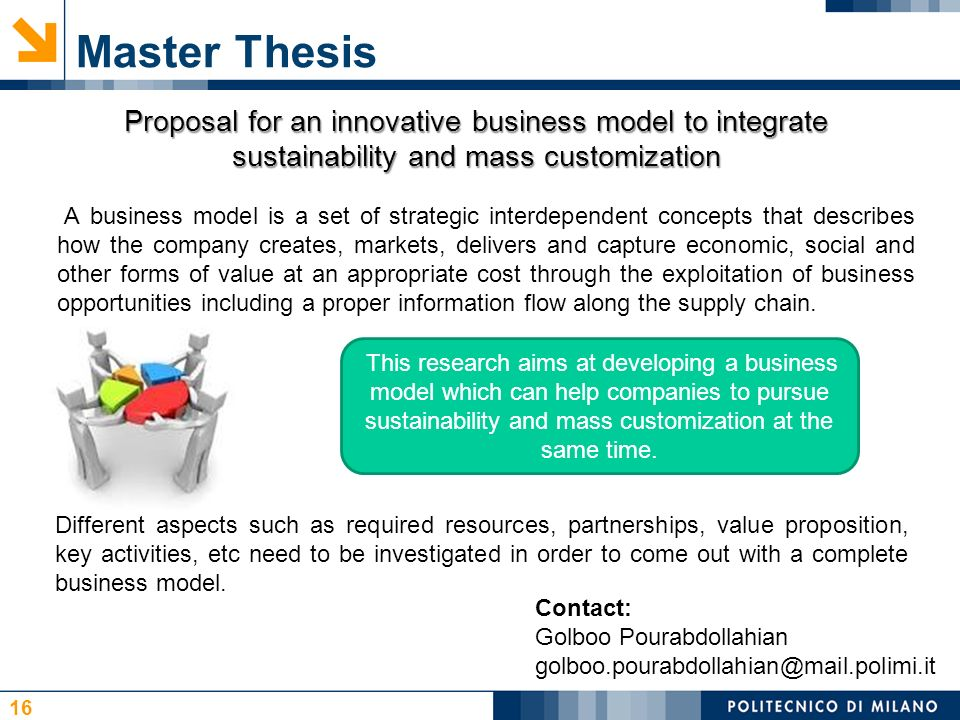 master thesis proposal finance business