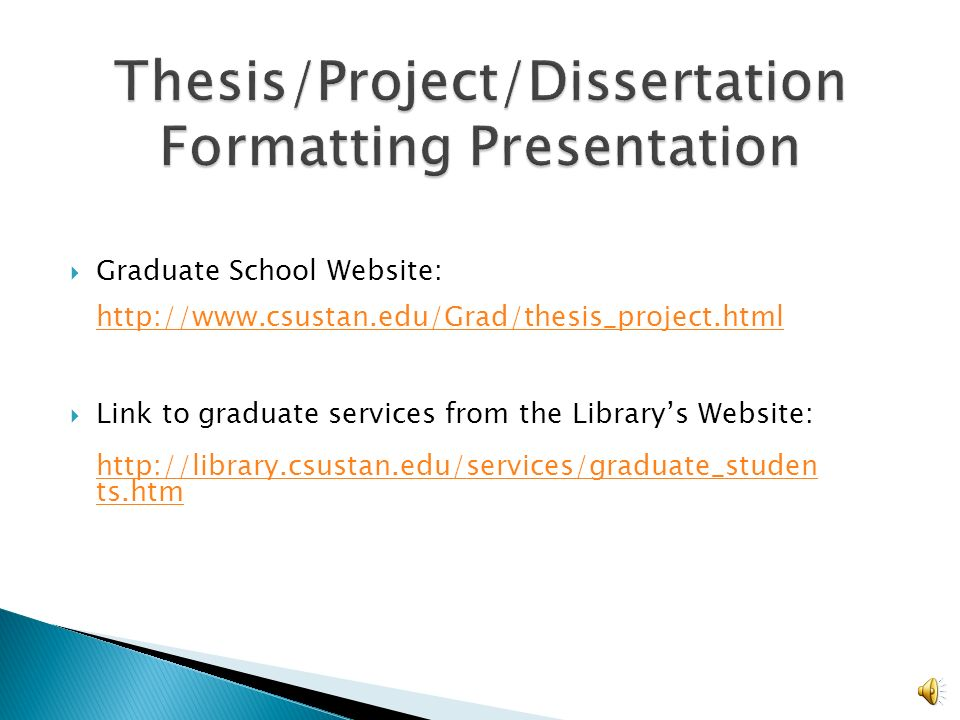 Thesis and Dissertation Archives