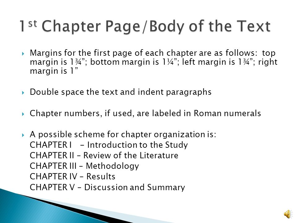thesis page margins Page breaks and section breaks are two useful features for controlling page layout in ms word and other desktop publishing programs you should consider using them to format your thesis/dissertation.