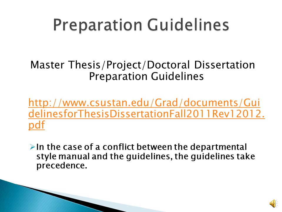 Thesis preparation and thesis examination regulations