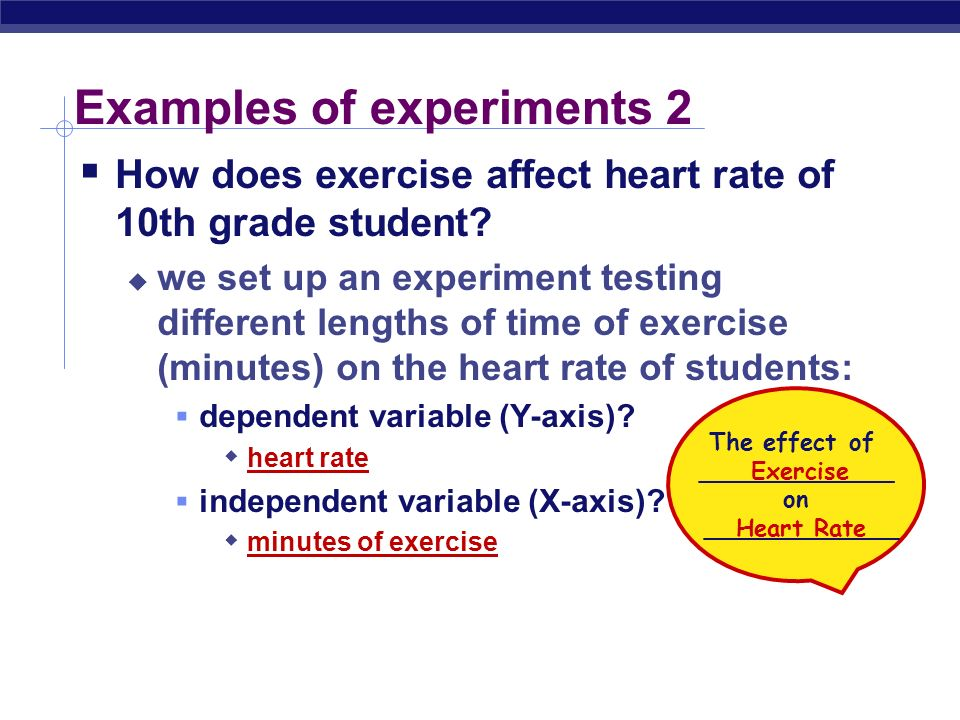 an analysis and experiment on the exercise effect on the heart rate Students design and conduct an experiment to measure the effects of exercise on heart rate aligned to next generation science standard ls1-3 where students must plan and conduct an.