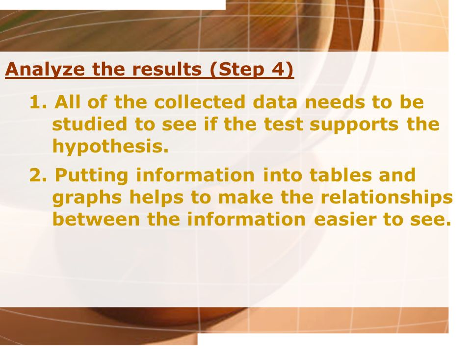 Analyze the results (Step 4)