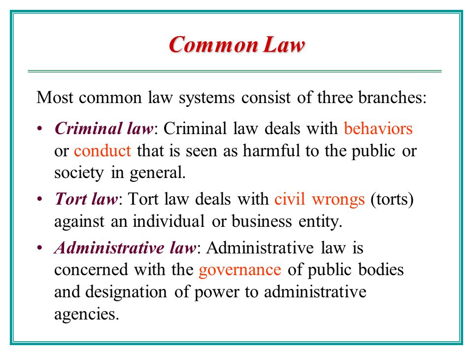 common and civil law legal systems Today the difference between common and civil legal traditions lies in the main source of law although common-law systems make extensive use of statutes, judicial cases are regarded as the most important source of law, which gives judges an active role in developing rules.