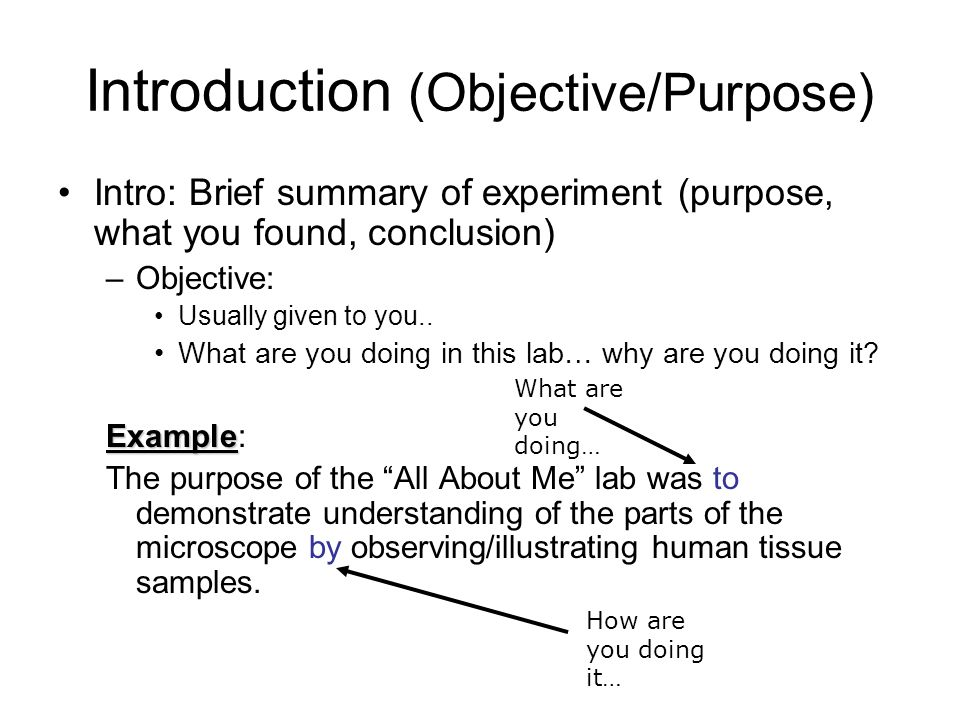 what is the purpose of writing a conclusion in a lab report A good abstract is a miniature version of the lab report in one concise  a good  conclusion takes you back to the larger purpose of the lab as stated in the.