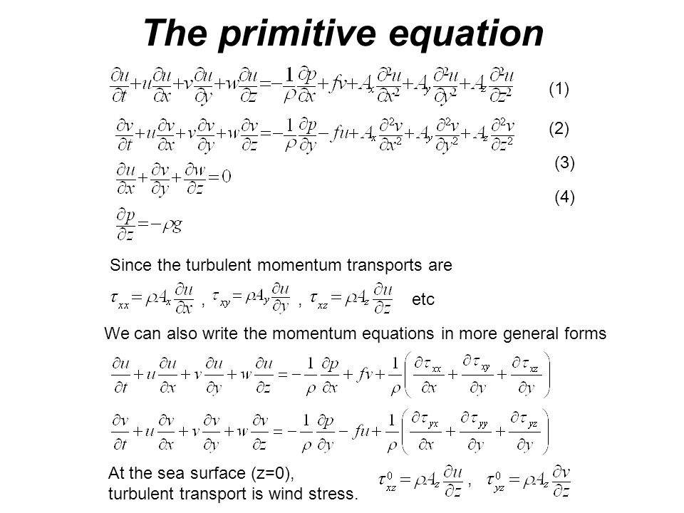 The primitive equation