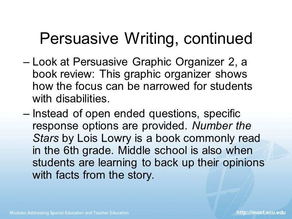how to write a persuasive tet