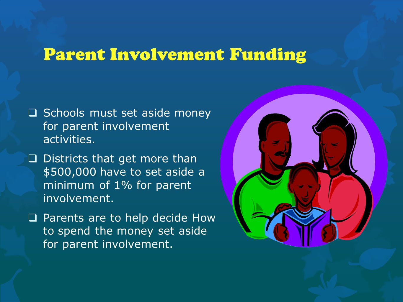 Parent Involvement Funding