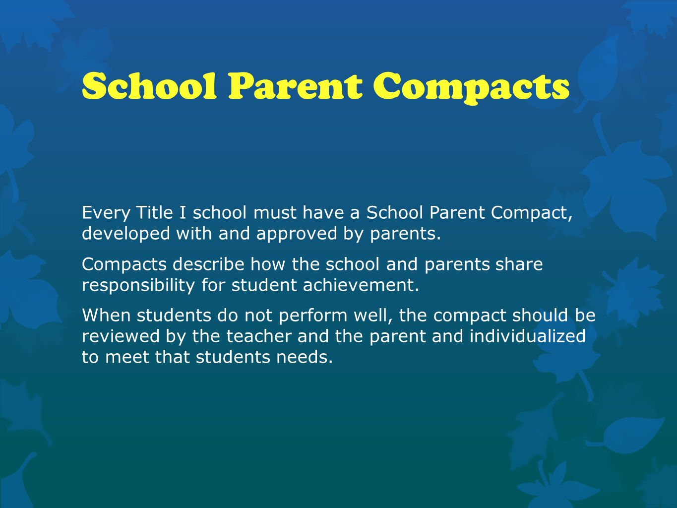 School Parent Compacts