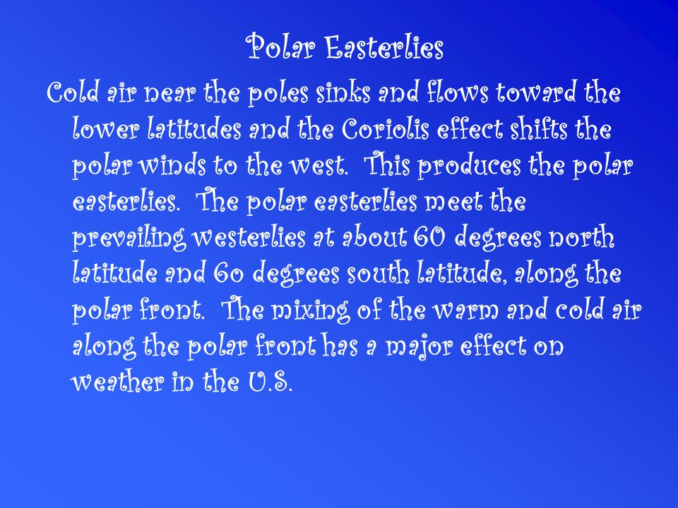Polar Easterlies
