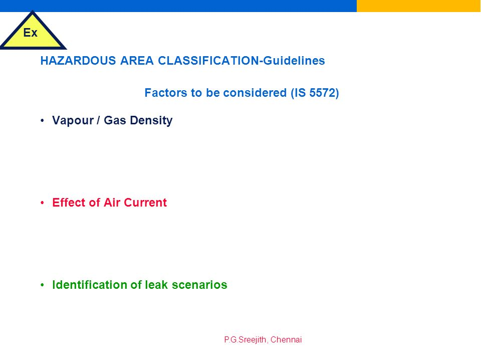 HAZARDOUS AREA CLASSIFICATION-Guidelines