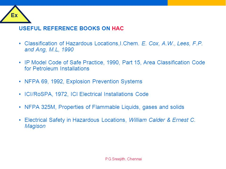 USEFUL REFERENCE BOOKS ON HAC