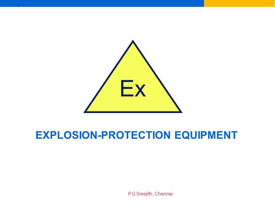 EXPLOSION-PROTECTION EQUIPMENT