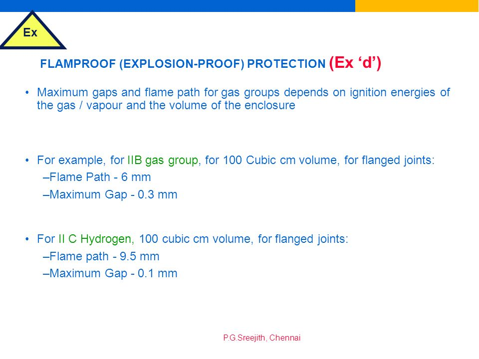 FLAMPROOF (EXPLOSION-PROOF) PROTECTION (Ex 'd')
