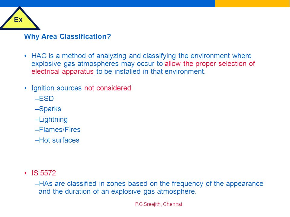 Why Area Classification