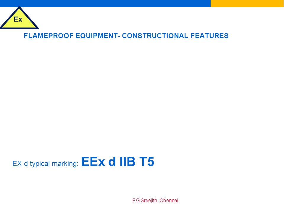FLAMEPROOF EQUIPMENT- CONSTRUCTIONAL FEATURES