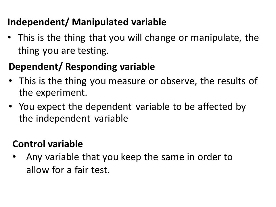 independent variable dependent variable marketing essay A definitions â operationalization, dependent variable, independent variable, mutually exclusive, collectively exhaustive, nominal, ordinal, interval ratio, mean, median, mode, frequency table b identify the level of measurement for a given variable.