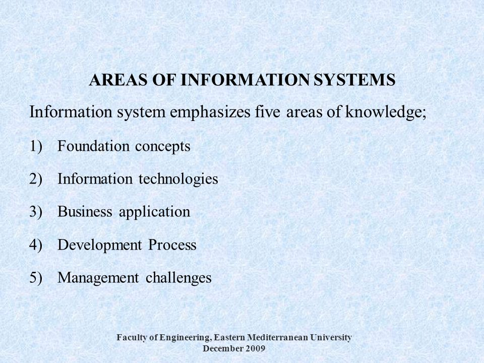Types of Information Systems in a Business Organization