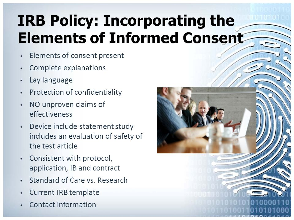 part 1 of 3 part series informed consent the document