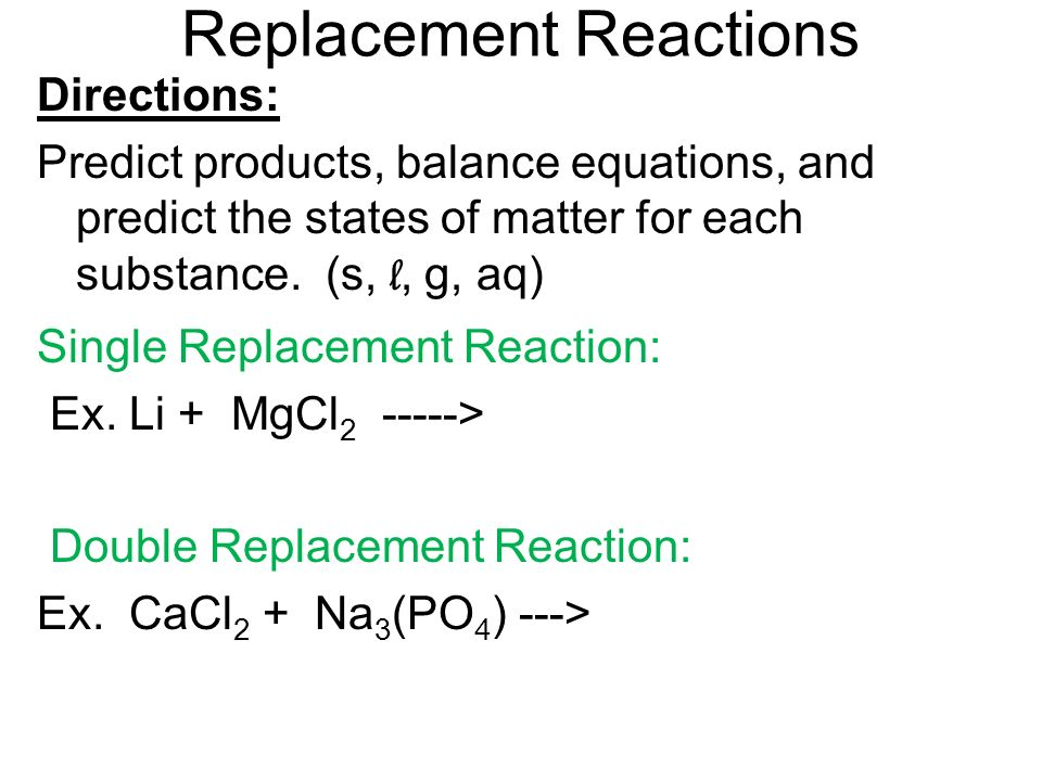 What are the six types of chemical reactions? - ppt video ...
