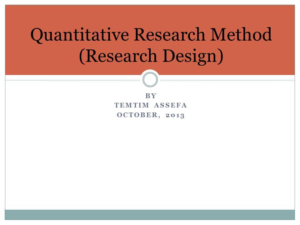 quantitative method in research