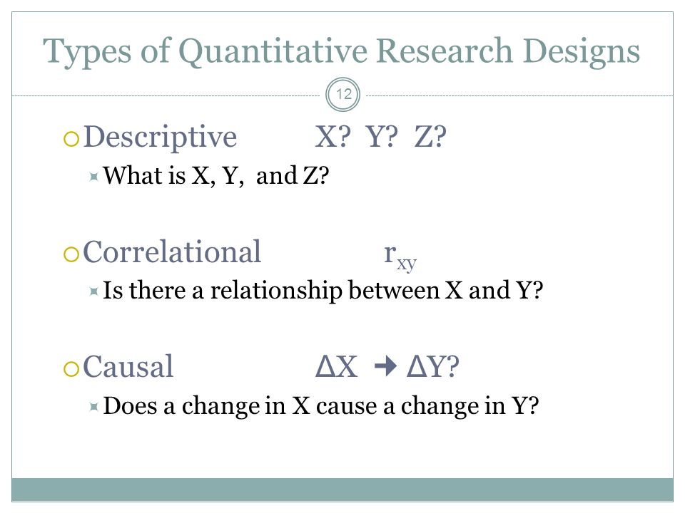 types of quantitative research designs In week 5, we will focus on study designs by the end of this week, you should  understand the differences between the most common types of study, and have.