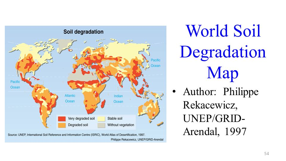 World Soil Degradation Map