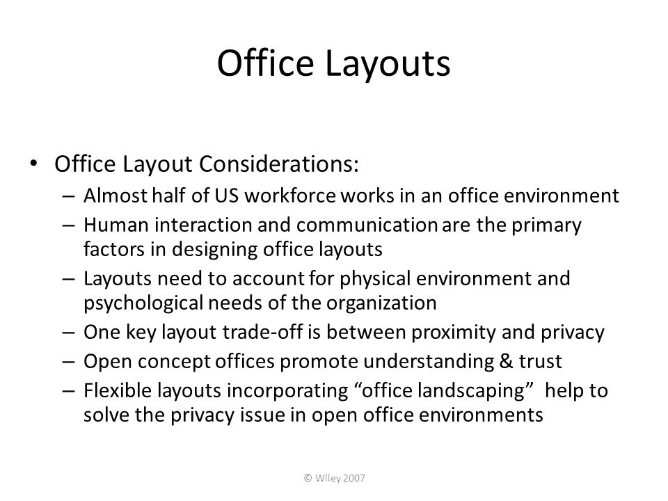 Facility layout ppt download for Office design considerations