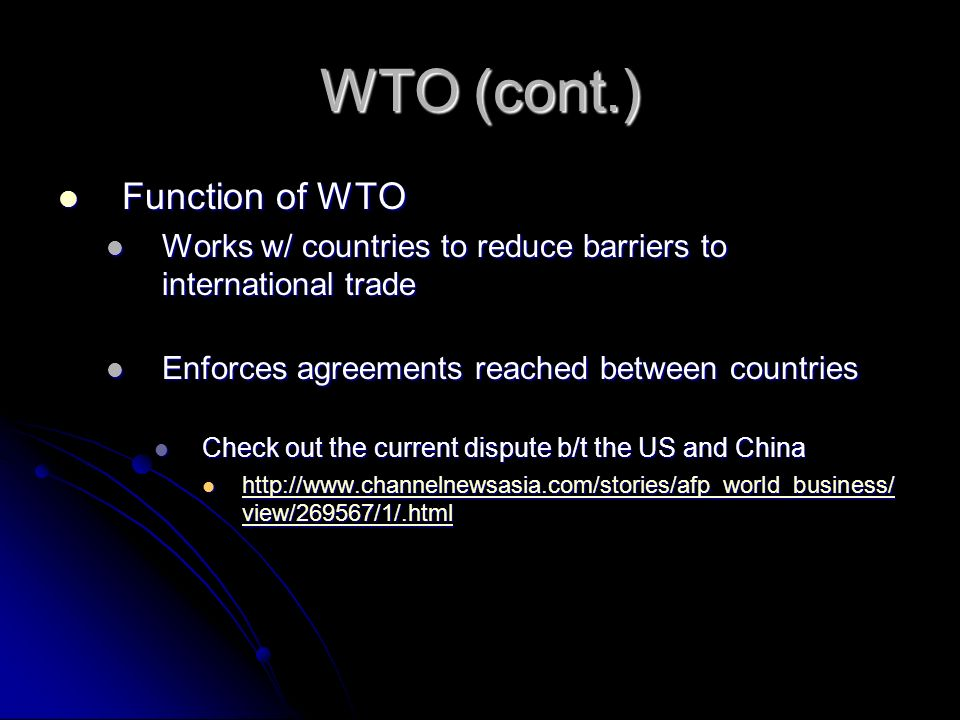 how wto works If we are to successfully adapt to today's new technical environment, we must understand how technologies affect day-to-day activities and perceptions in wto, you will learn to understand.