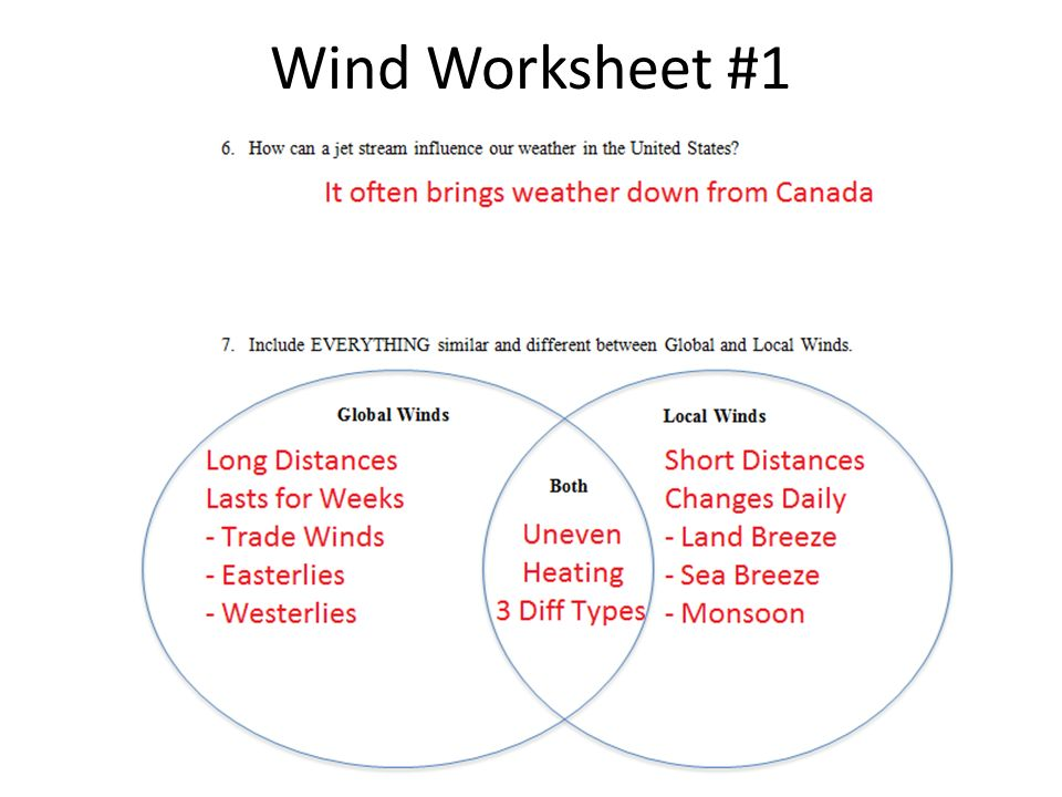 Global Winds Worksheet Checks Worksheet