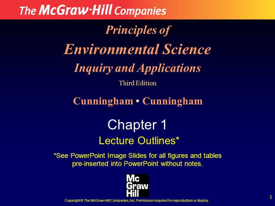 Environmental Science Inquiry and Applications Cunningham • Cunningham