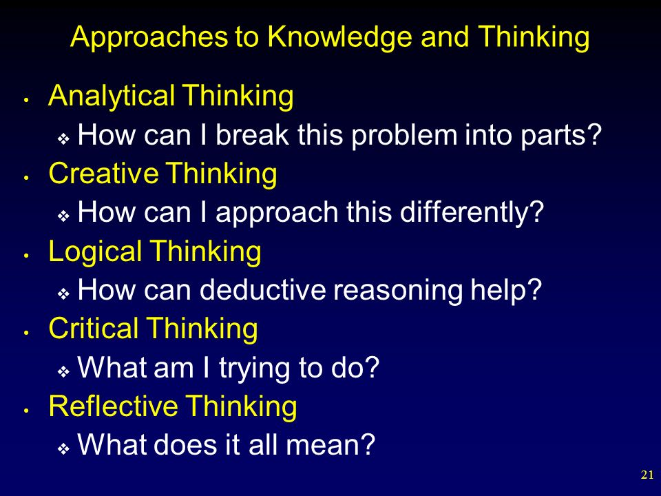 Approaches to Knowledge and Thinking