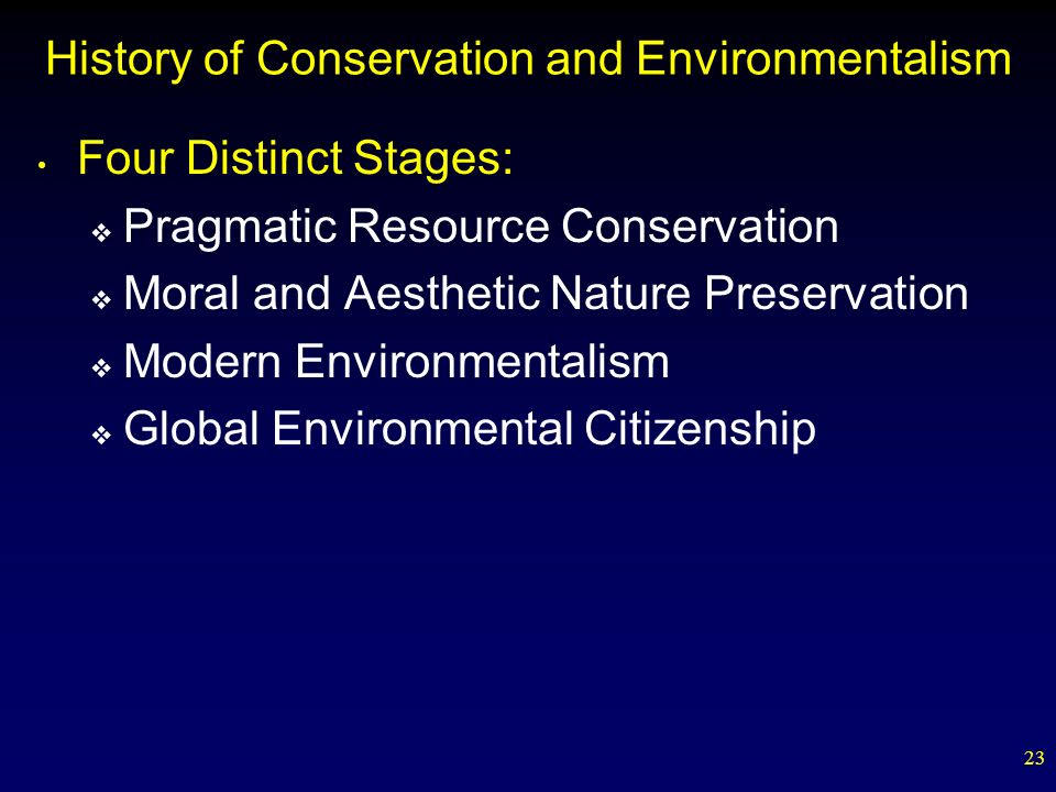 History of Conservation and Environmentalism