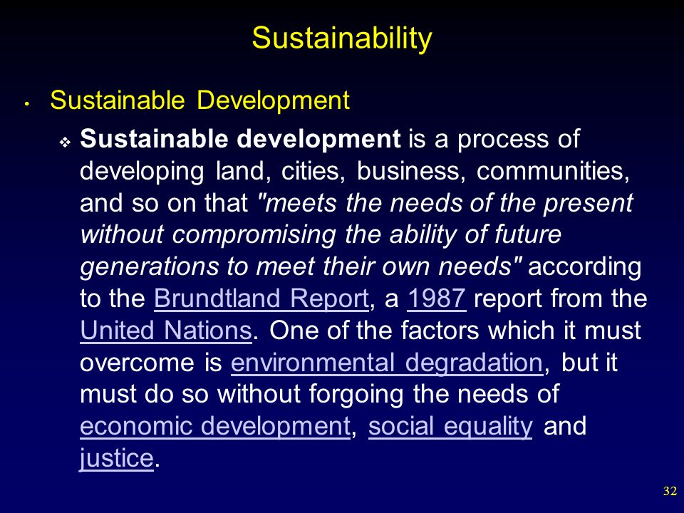 Sustainability Sustainable Development