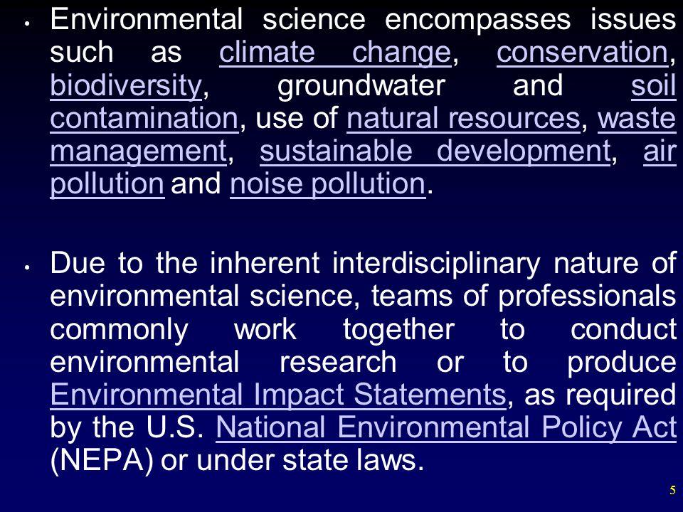 interdisciplinary nature of environmental science pdf