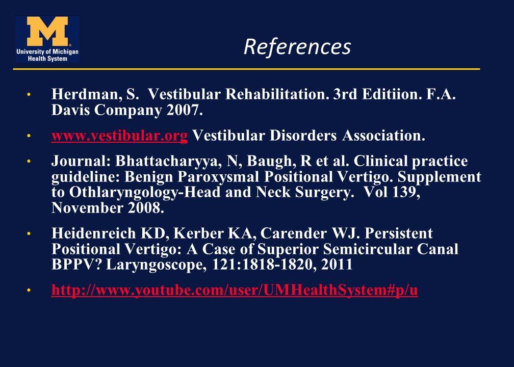 vestibular rehabilitation thesis Cardiopulmonary rehabilitation is also called as cardiac rehabilitation cardiac  rehabilitation (rehab) may be a medically supervised program that helps.