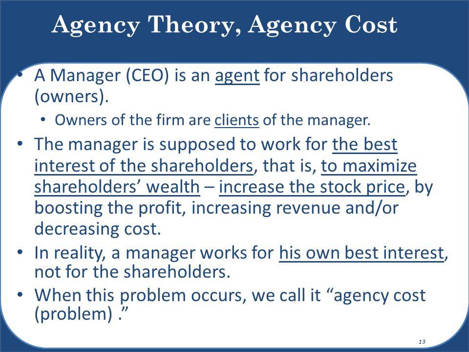 Agency Theory, Agency Cost