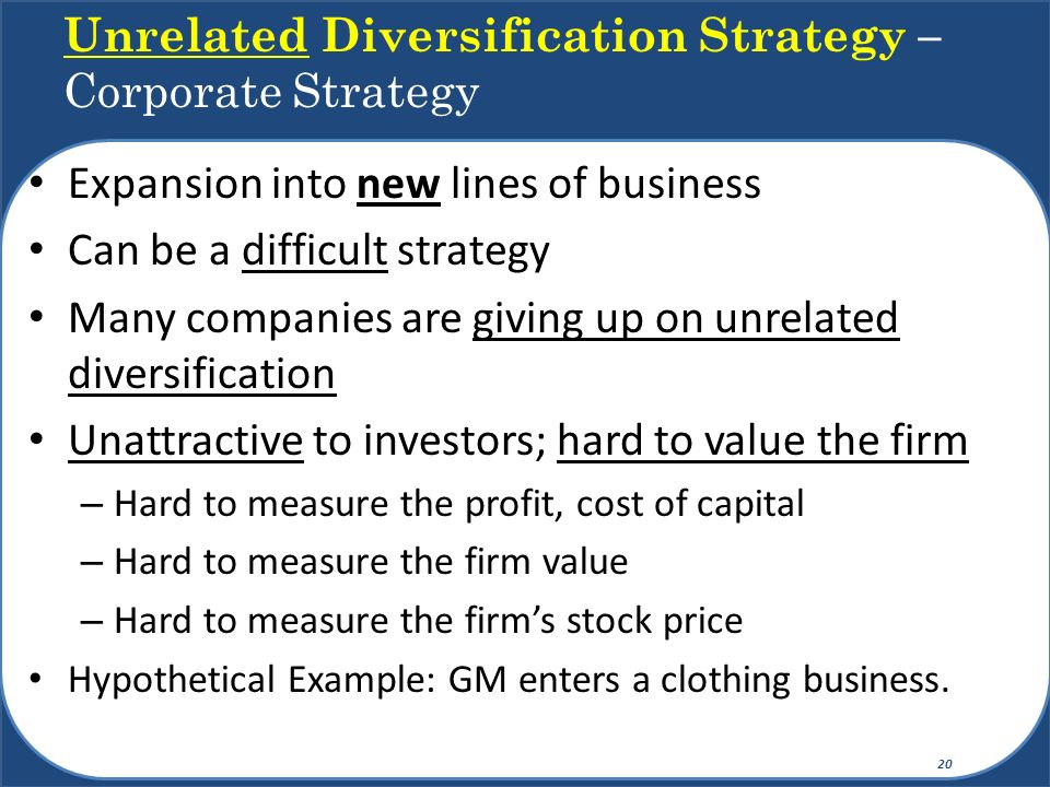 The guide to diversification