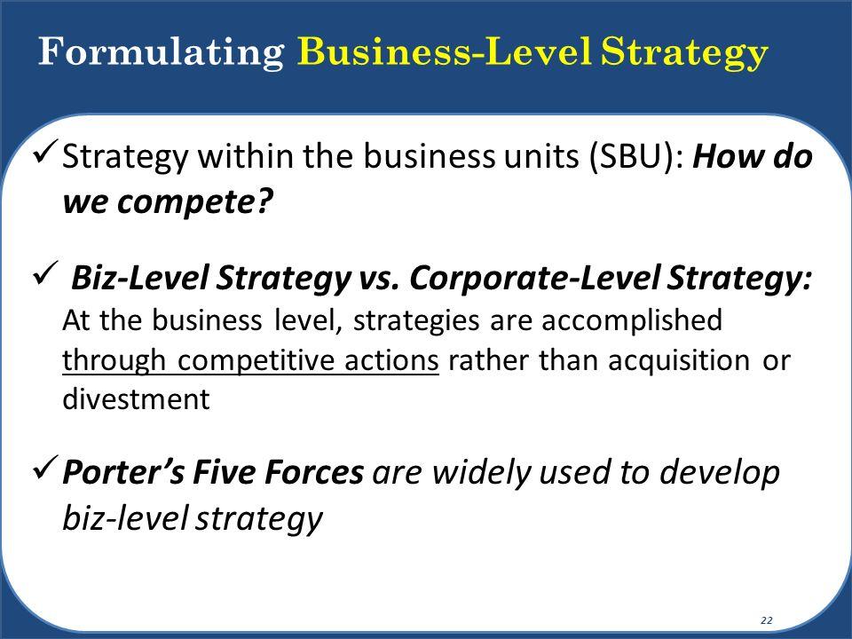 Formulating Business-Level Strategy