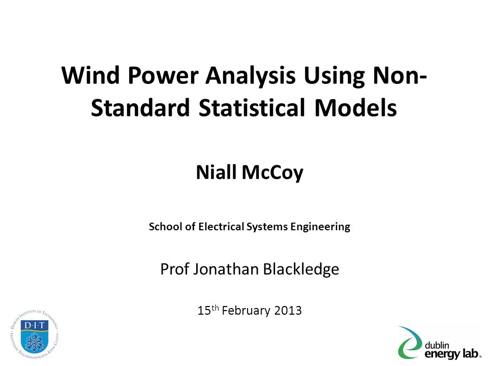 an introduction to the analysis of wind An introduction to shadow flicker and its analysis subject presented february 10, 2011, at the webinar, understanding the current science, regulation, and mitigation of shadow flicker.