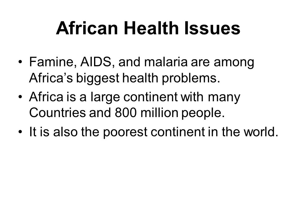 the many disease epidemics facing many african countries today If obesity is the greatest threat facing our country today,  the responsibility of big food manufacturers  aids epidemics in sub-saharan african countries.