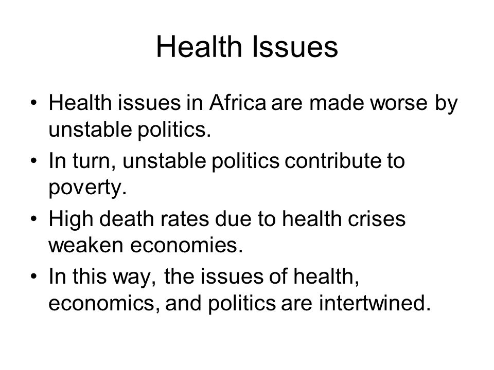 articles regarding health and fitness issues on africa