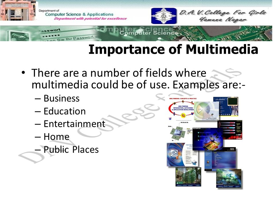 role of multimedia in education