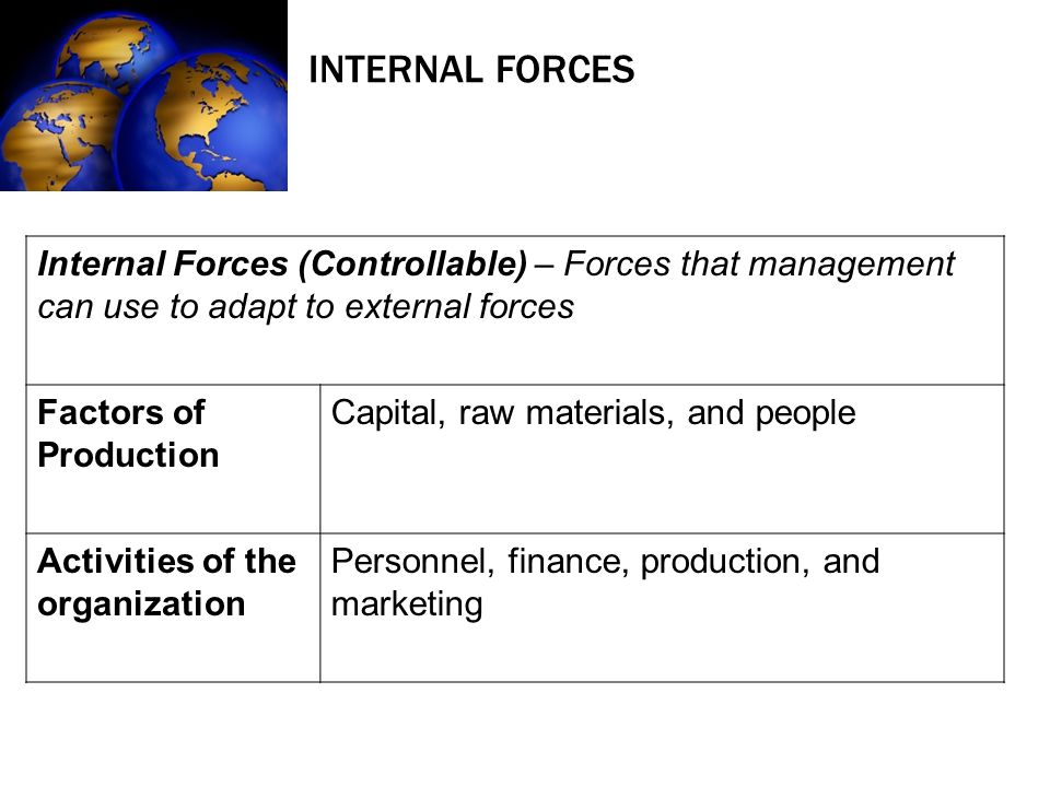 Internal external organizational forces mgt307