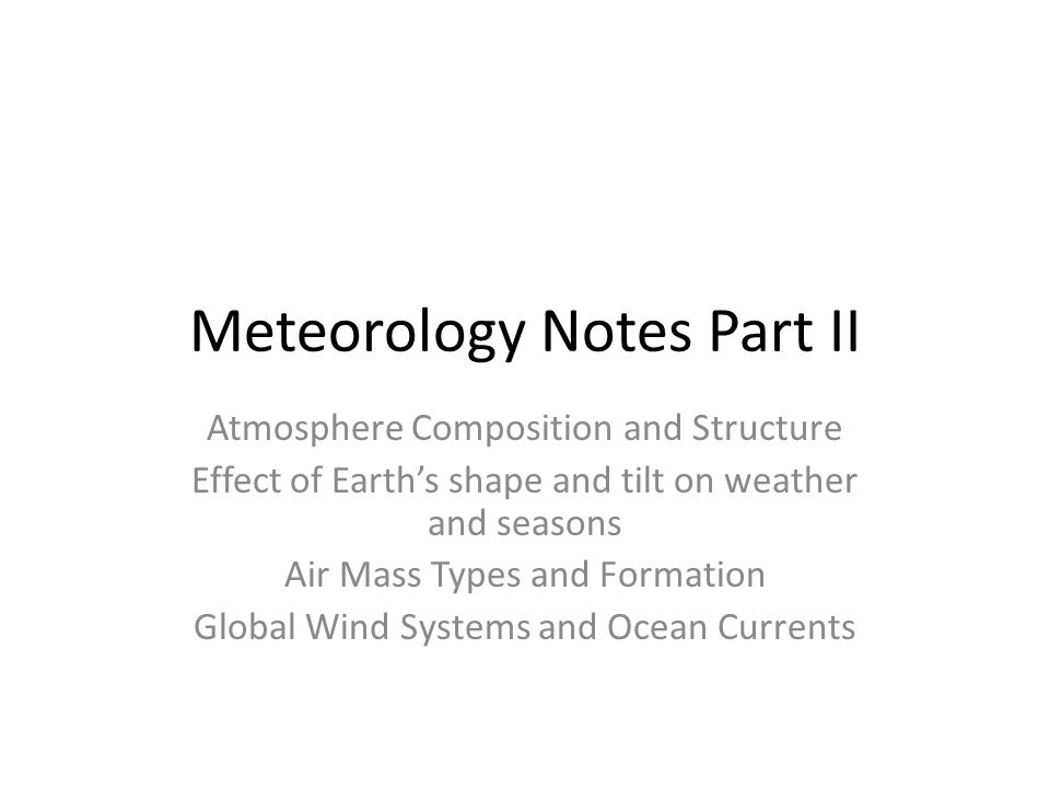 meteorology notes Boundary-layer meteorology publishes several types of articles, which are detailed below please use this guidance to select the most appropriate category for your submission research articles are scientific articles that present results from substantial research studies or critical reviews of ongoing research articles in this.