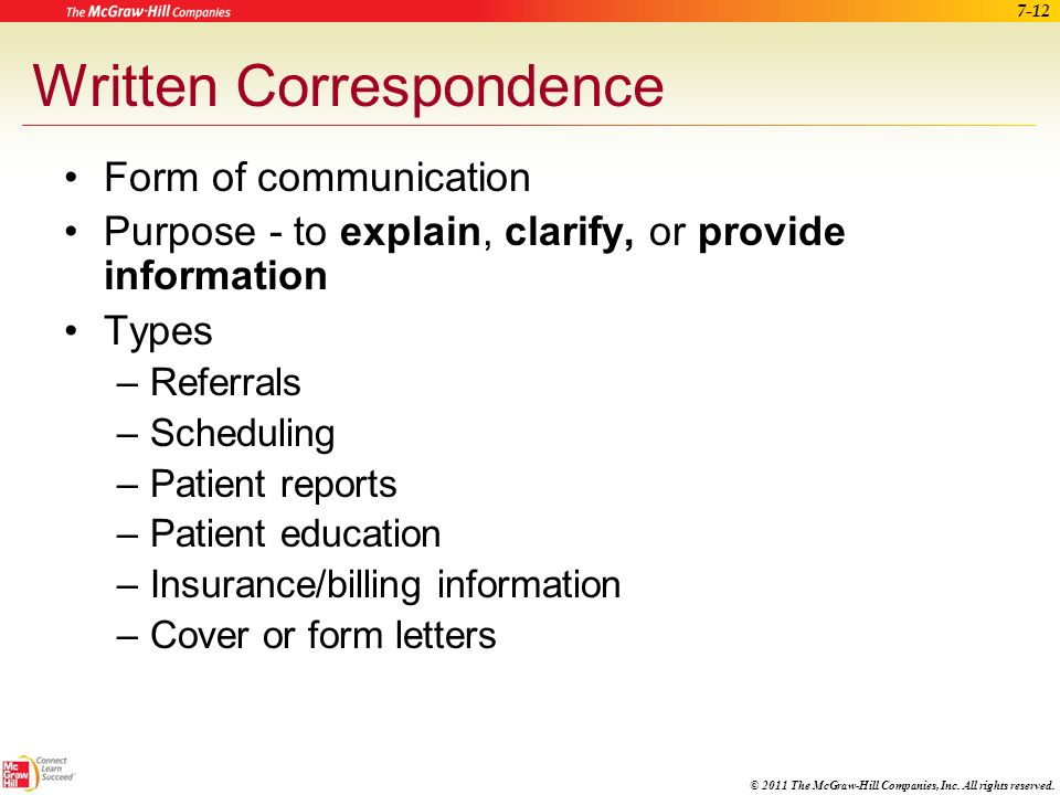 12 Written Correspondence Form Of Communication