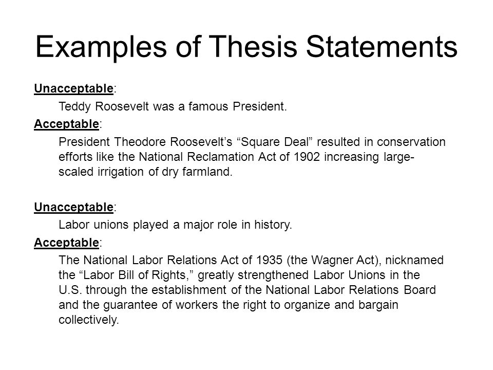 How To Write A History Fair Thesis Statement