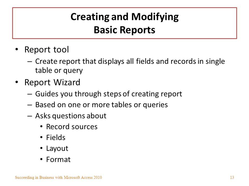 basic report format