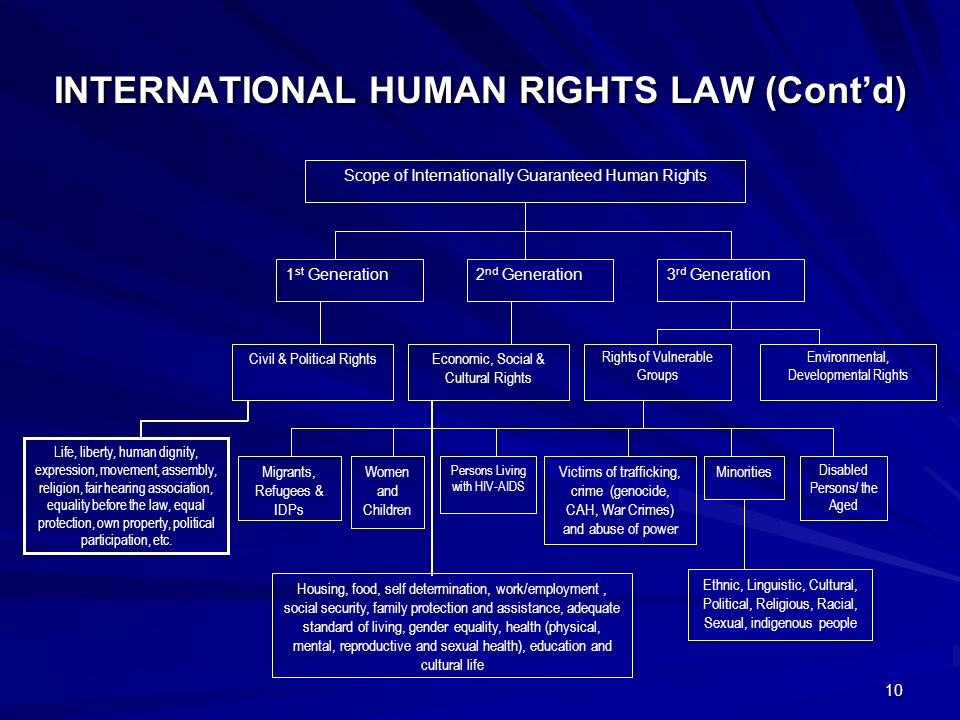 overview on international human rights Human rights: an overview international human rights law began as a response to the horrors of war, in particular world war ii, although the geneva conventions had begun earlier the formation of the united nations gave human rights international legitimacy, particularly because many nations signed the united.